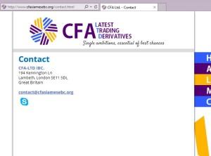 Falešná společnost CFA LTD