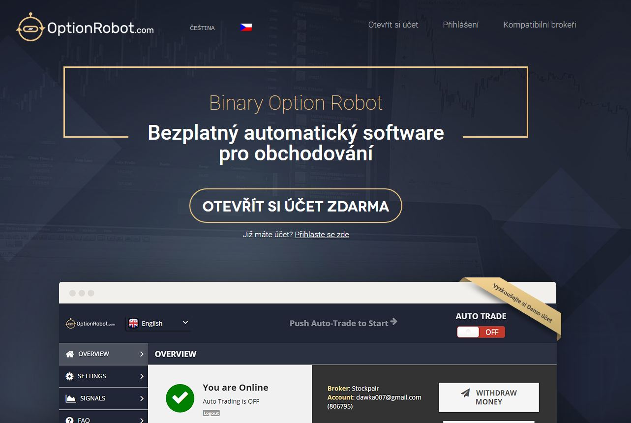 pandora software binary options robot