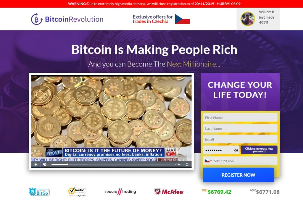 Bitcoin Revolution recenze