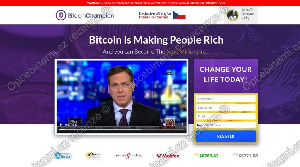 Recenze Bitcoin Champion