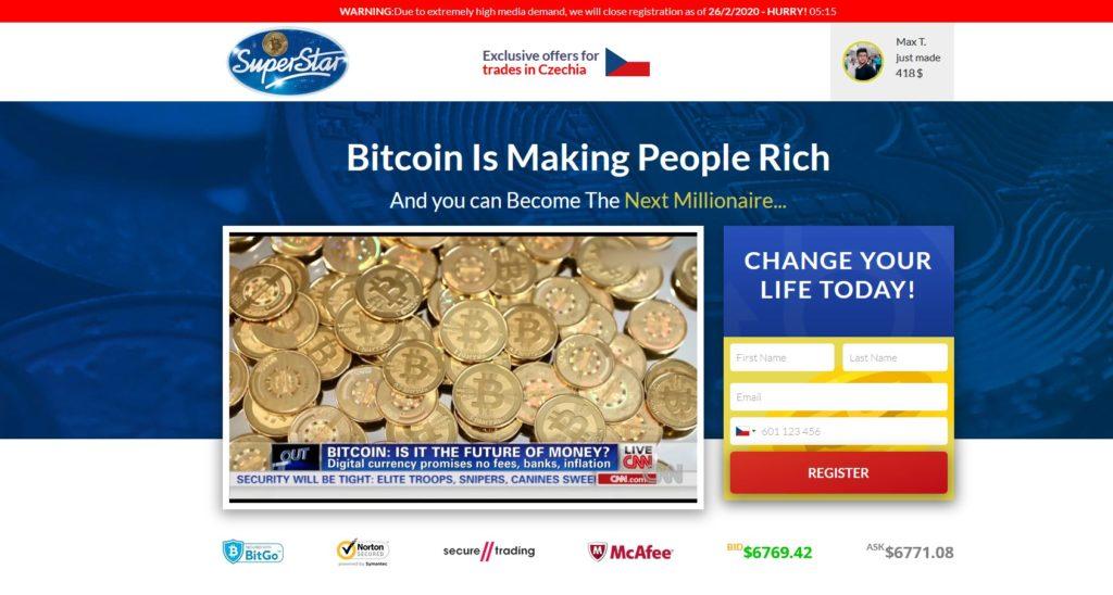 Bitcoin Superstar recenze