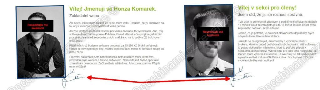 Honza Komarek je podfukář