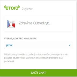 eToro podpora