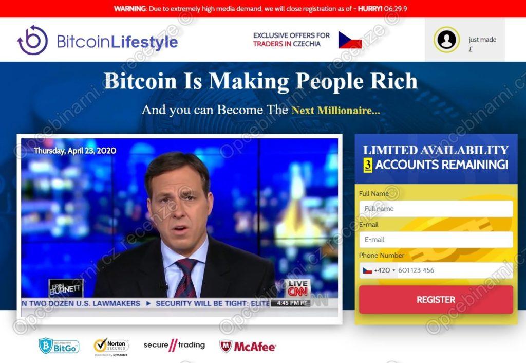 Bitcoin Lifestyle recenze