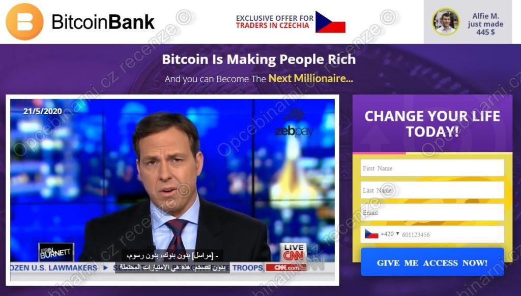 Bitcoin Bank recenze
