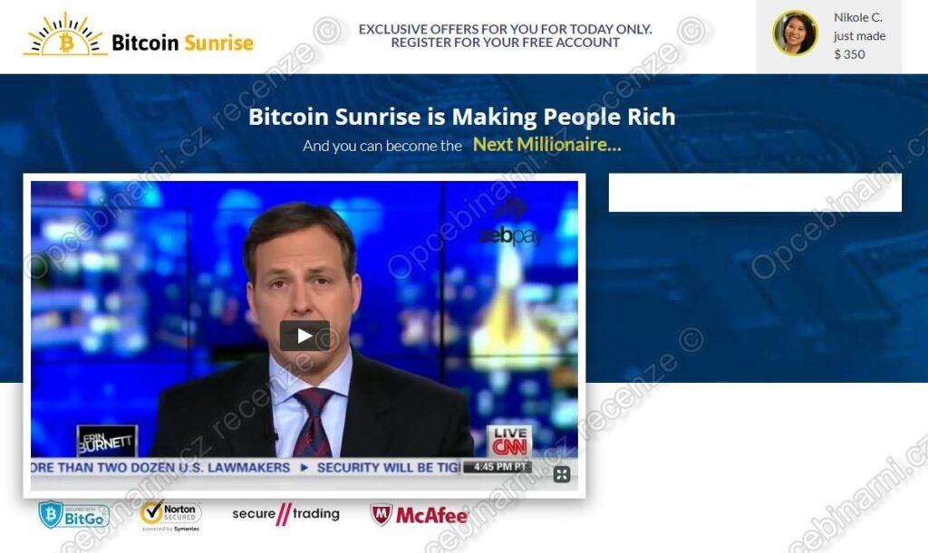 Recenze Bitcoin Sunrise