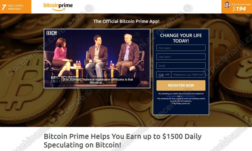 Recenze Bitcoin Prime