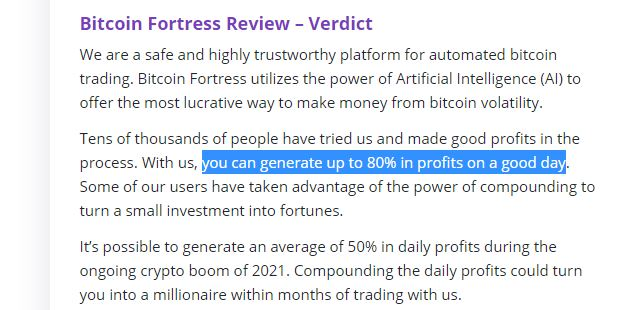 Zkušenosti s Bitcoin Fortress